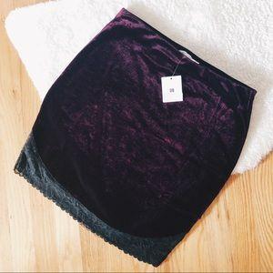 NWT ✨UO✨ Velvet Mini Skirt